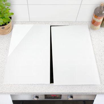 Produktfoto Herdabdeckplatte Glas - Polarweiß - 52x60cm, vergrößerte Ansicht in Wohnambiente, Artikelnummer 227797-XWA