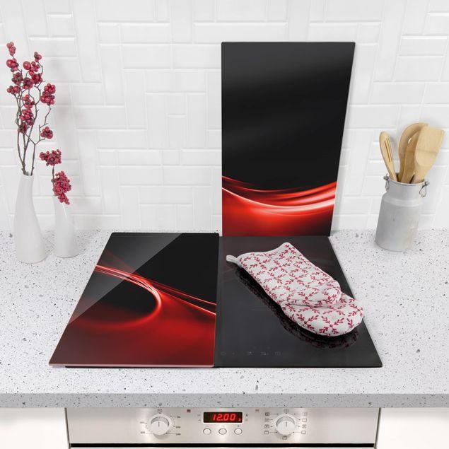 Immagine del prodotto Coprifornelli in vetro - Red Wave - 52x60cm