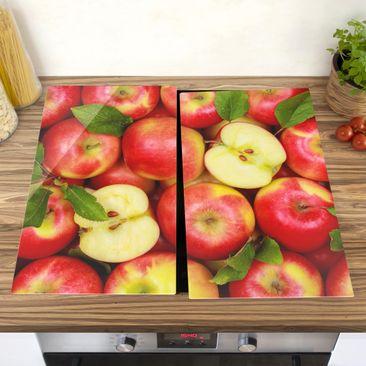 Produktfoto Herdabdeckplatte Glas - Saftige Äpfel - 52x60cm, vergrößerte Ansicht in Wohnambiente, Artikelnummer 227809-XWA