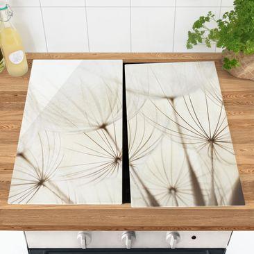 Produktfoto Herdabdeckplatte Glas - Sanfte Gräser - 52x60cm, vergrößerte Ansicht in Wohnambiente, Artikelnummer 227810-XWA