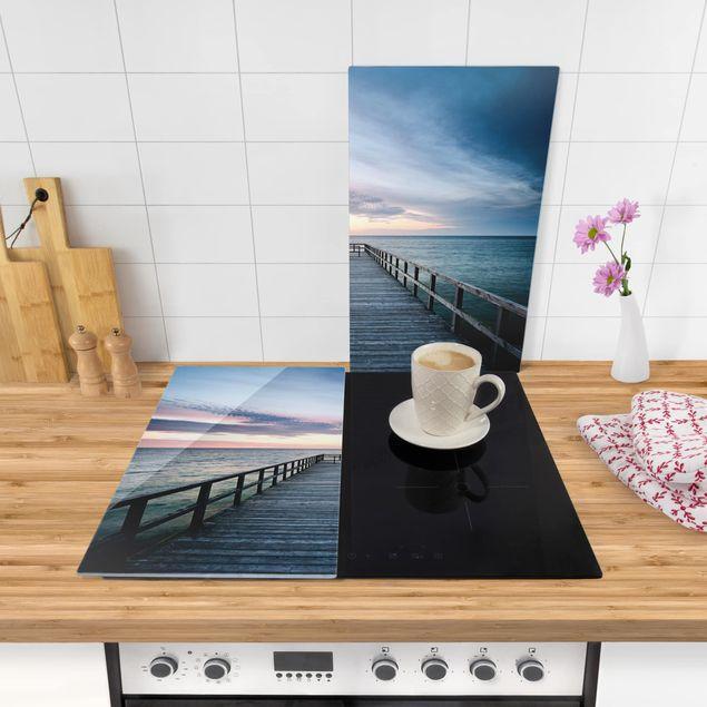 Immagine del prodotto Coprifornelli in vetro - Foot Bridge Promenade - 52x60cm