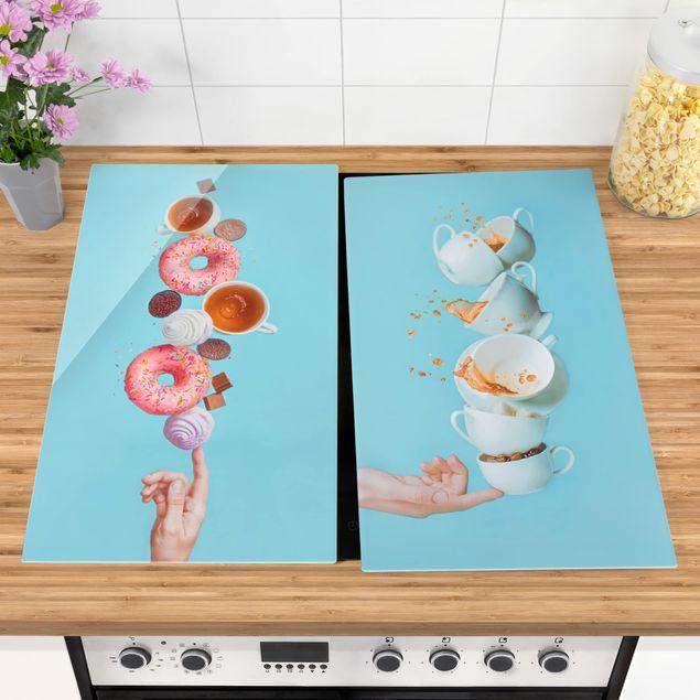 Produktfoto Herdabdeckplatte Glas - Balance - 52x60cm, vergrößerte Ansicht in Wohnambiente, Artikelnummer 227839-XWA