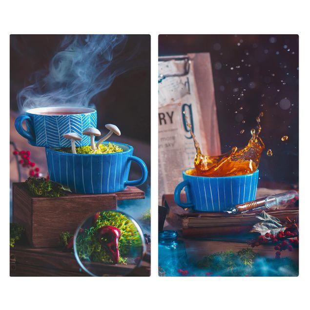 Produktfoto Herdabdeckplatte Glas - Geheimnisvolle Teetasse - 52x60cm, Frontalansicht, Artikelnummer 227846-FF