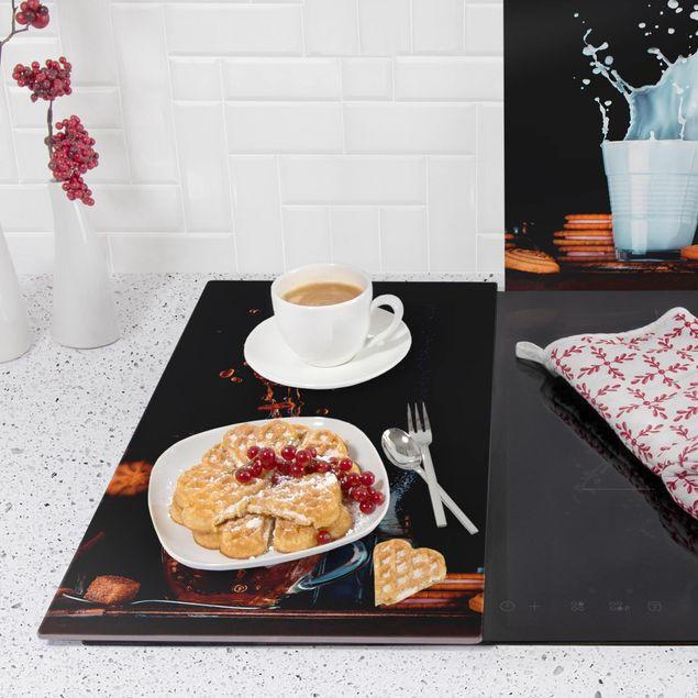 Immagine del prodotto Coprifornelli in vetro - Milk And Tea Composition - 52x60cm