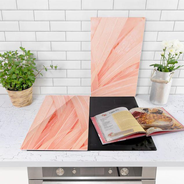 Immagine del prodotto Coprifornelli in vetro - Palm Leaves Pink - 52x60cm