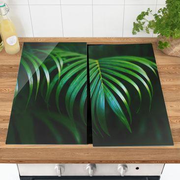 Produktfoto Herdabdeckplatte Glas - Palmenwedel - 52x60cm, vergrößerte Ansicht in Wohnambiente, Artikelnummer 227874-XWA