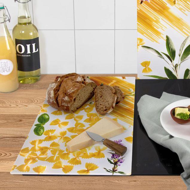 Produktfoto Herdabdeckplatte Glas - Pasta! Pasta! - 52x60cm, Anwendungsbeispiel, Artikelnummer 227898-XWAF