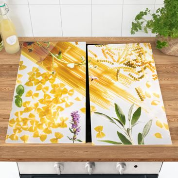 Produktfoto Herdabdeckplatte Glas - Pasta! Pasta! - 52x60cm, vergrößerte Ansicht in Wohnambiente, Artikelnummer 227898-XWA