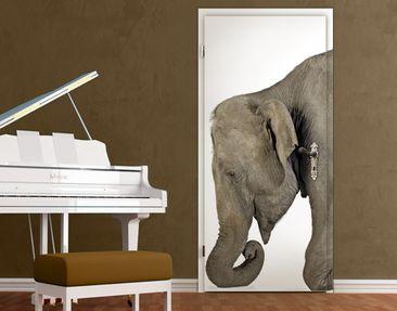 Immagine del prodotto Carta da parati adesiva per porte - Kneeling Elephant