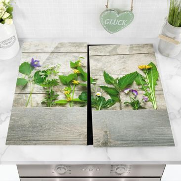 Product picture Glass hob cover - Medicinal And Wild...