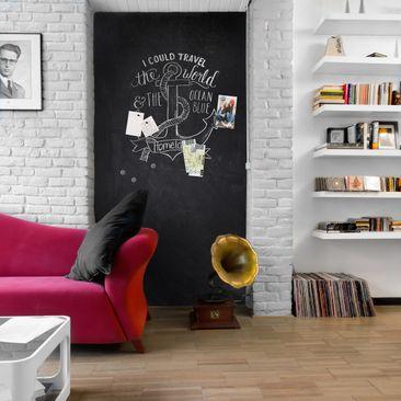 Produktfoto Tafelfolie magnetisch - Blackboard selbstklebend - Wohnzimmer