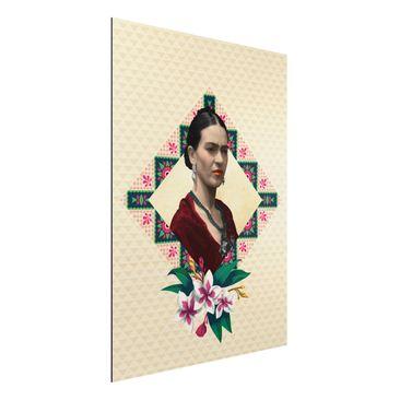Produktfoto Aluminium Print - Frida Kahlo - Blumen und Geometrie - Hochformat 4:3