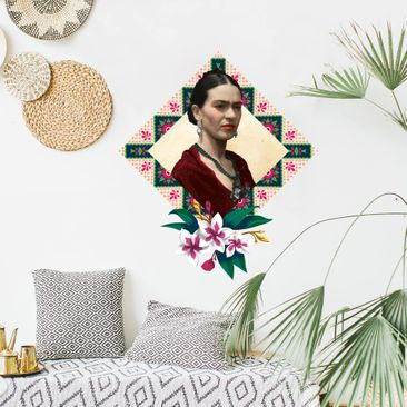 Product picture Wall Sticker - Frida Kahlo - Flowers And...