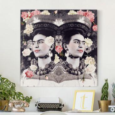 Produktfoto Leinwandbild - Frida Kahlo - Blumenflut - Quadrat 1:1