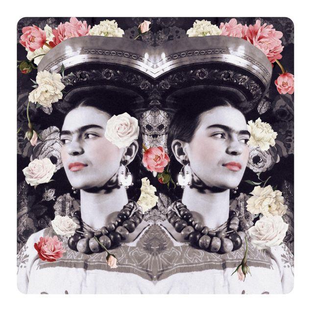 Produktfoto Selbstklebendes Wandbild - Frida Kahlo - Blumenflut - Quadrat 1:1
