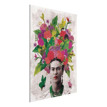 Immagine del prodotto Stampa su alluminio - Frida Kahlo - Flower Portrait - Verticale 4:3