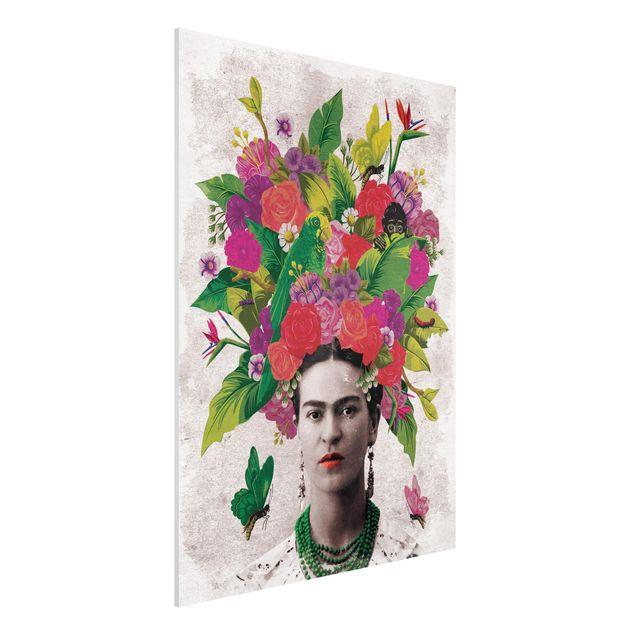 Produktfoto Forex Fine Art Print -Frida Kahlo - Blumenportrait- Hochformat 4:3