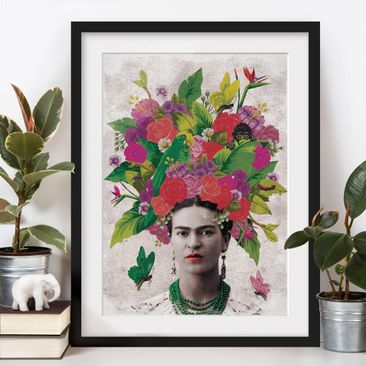 Product picture Framed print - Frida Kahlo - Flower...