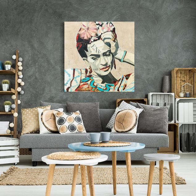 Produktfoto Leinwandbild - Frida Kahlo - Collage No.1 - Quadrat 1:1