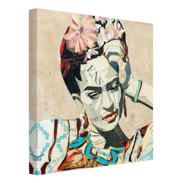 Produktfoto Leinwandbild - Frida Kahlo - Collage No.1 - Quadrat 1:1