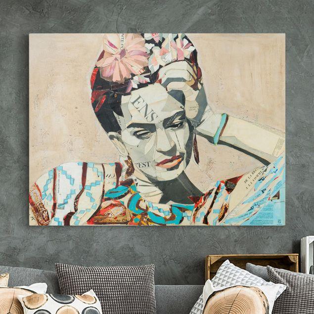 Produktfoto Leinwandbild - Frida Kahlo - Collage No.1 - Querformat 3:4
