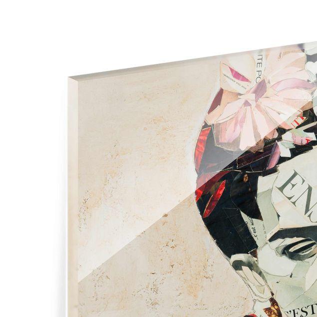Produktfoto Glasbild - Frida Kahlo - Collage No.1 - Querformat 3:4