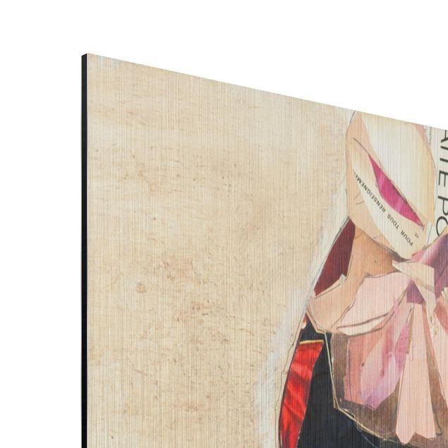 Produktfoto Aluminium Print gebürstet - Frida Kahlo - Collage No.1 - Quadrat 1:1