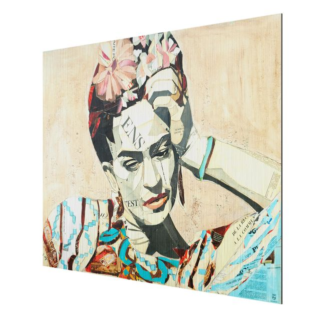 Produktfoto Aluminium Print gebürstet - Frida Kahlo - Collage No.1 - Querformat 3:4