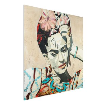 Produktfoto Aluminium Print - Frida Kahlo - Collage No.1 - Quadrat 1:1