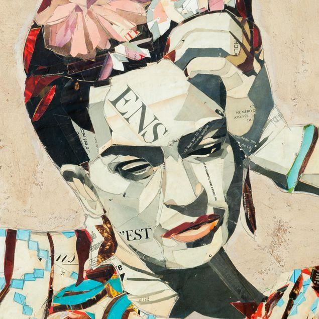 Produktfoto Selbstklebendes Wandbild - Frida Kahlo - Collage No.1 - Quadrat 1:1