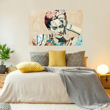Produktfoto Selbstklebendes Wandbild - Frida Kahlo - Collage No.1 - Querformat 2:3