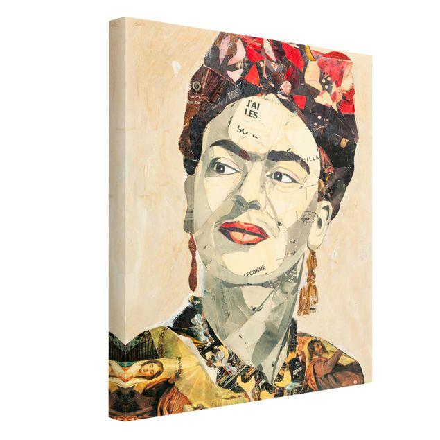 Produktfoto Leinwandbild - Frida Kahlo - Collage No.2 - Hochformat 4:3