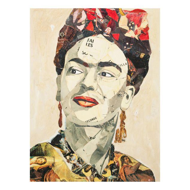 Produktfoto Forex Fine Art Print -Frida Kahlo - Collage No.2- Hochformat 4:3