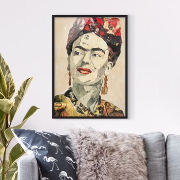 Product picture Framed print - Frida Kahlo - Collage...