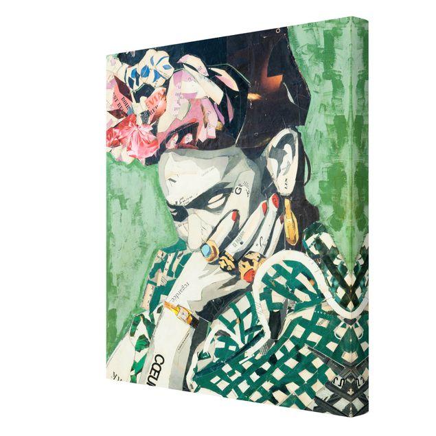 Produktfoto Leinwandbild - Frida Kahlo - Collage No.3 - Hochformat 4:3