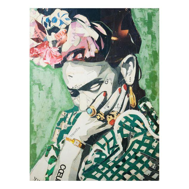 Produktfoto Aluminium Print - Frida Kahlo - Collage No.3 - Hochformat 4:3