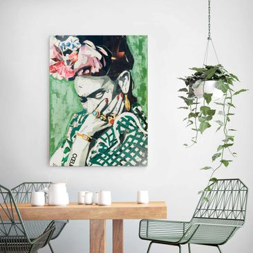 Product picture Print on Glass - Frida Kahlo - Collage...