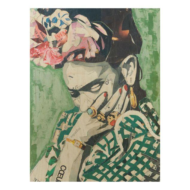 Produktfoto Holzbild -Frida Kahlo - Collage No.3- Hochformat 4:3