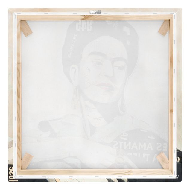 Produktfoto Leinwandbild - Frida Kahlo - Collage No.4 - Quadrat 1:1