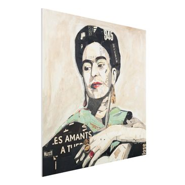Produktfoto Forex Fine Art Print -Frida Kahlo - Collage No.4- Quadrat 1:1