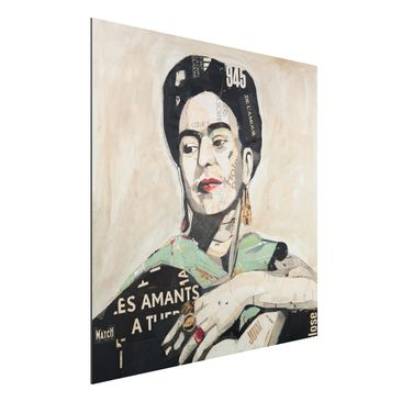 Produktfoto Aluminium Print - Frida Kahlo - Collage No.4 - Quadrat 1:1