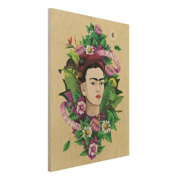 Immagine del prodotto Stampa su legno -Frida Kahlo - Frida, Monkey And Parrot- Verticale 4:3