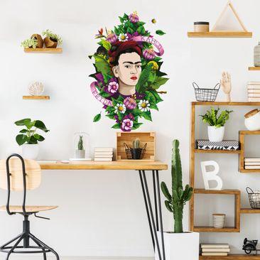 Immagine del prodotto Adesivo murale - Frida Kahlo - Frida, scimmia e pappagallo