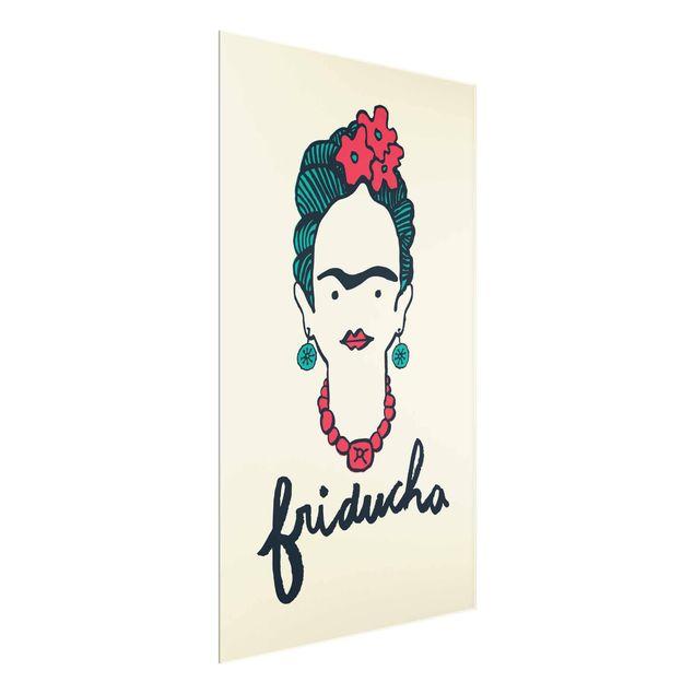 Produktfoto Glasbild - Frida Kahlo - Friducha - Hochformat 4:3