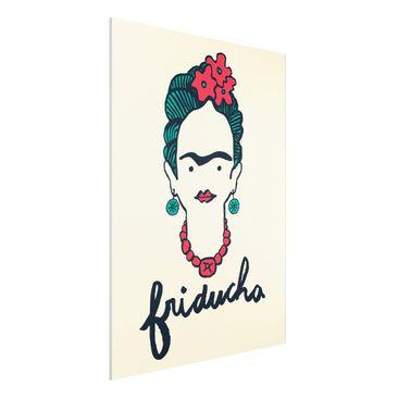 Produktfoto Forex Fine Art Print -Frida Kahlo - Friducha- Hochformat 4:3