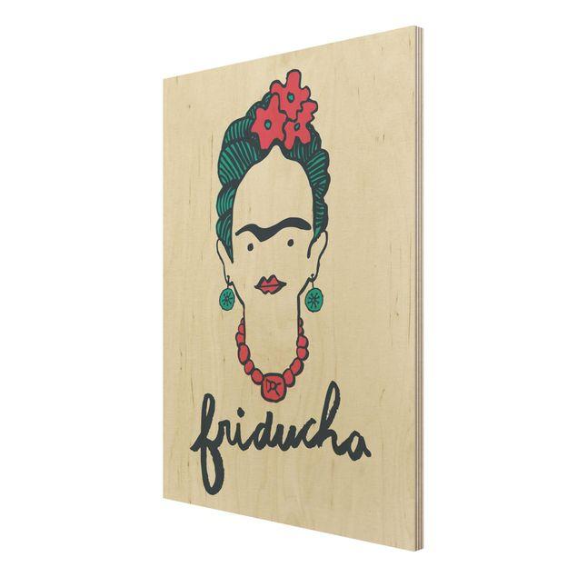 Produktfoto Holzbild -Frida Kahlo - Friducha- Hochformat 4:3