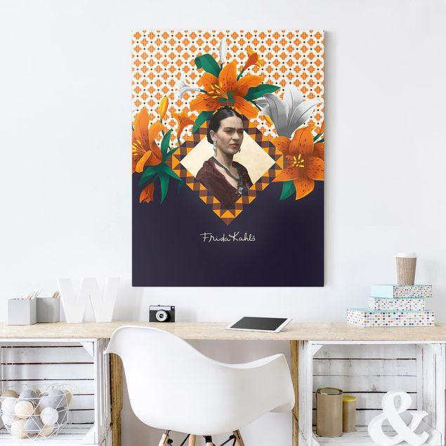 Produktfoto Leinwandbild - Frida Kahlo - Lilien - Hochformat 4:3