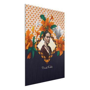 Produktfoto Aluminium Print gebürstet - Frida Kahlo - Lilien - Hochformat 4:3