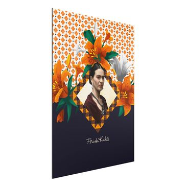 Produktfoto Aluminium Print - Frida Kahlo - Lilien - Hochformat 4:3