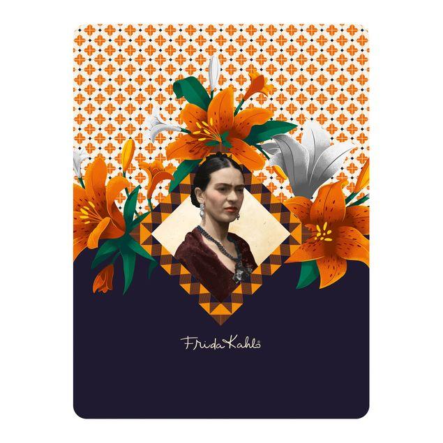 Produktfoto Selbstklebendes Wandbild - Frida Kahlo - Lilien - Hochformat 4:3